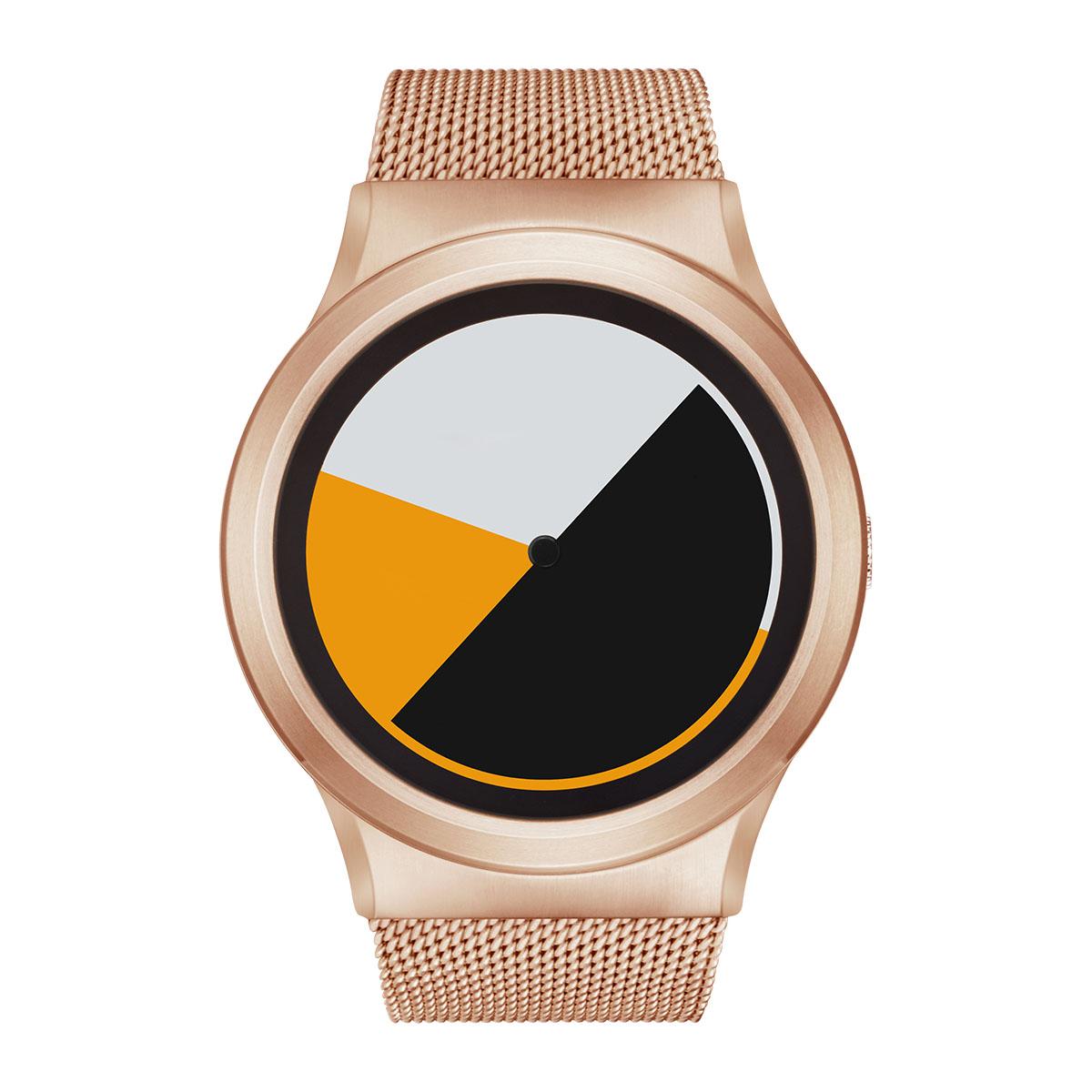 ZEROO COLORED TIME ゼロ 電池式クォーツ 腕時計 [W01001B05SM05] イエロー デザインウォッチ ペア用 メンズ レディース ユニセックス おしゃれ時計 デザイナーズ