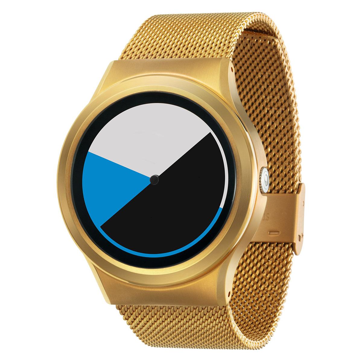 ZEROO COLORED TIME ゼロ 電池式クォーツ 腕時計 [W01002B04SM04] ブルー デザインウォッチ ペア用 メンズ レディース ユニセックス おしゃれ時計 デザイナーズ