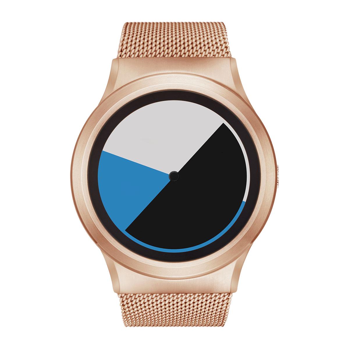 ZEROO COLORED TIME ゼロ 電池式クォーツ 腕時計 [W01002B05SM05] ブルー デザインウォッチ ペア用 メンズ レディース ユニセックス おしゃれ時計 デザイナーズ