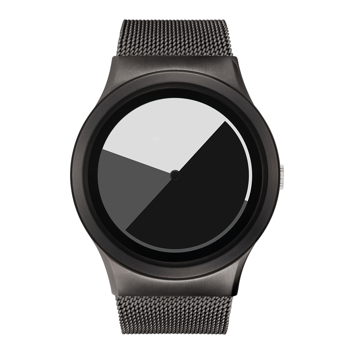 ZEROO COLORED TIME ゼロ 電池式クォーツ 腕時計 [W01003B02SM02] グレイ デザインウォッチ ペア用 メンズ レディース ユニセックス おしゃれ時計 デザイナーズ