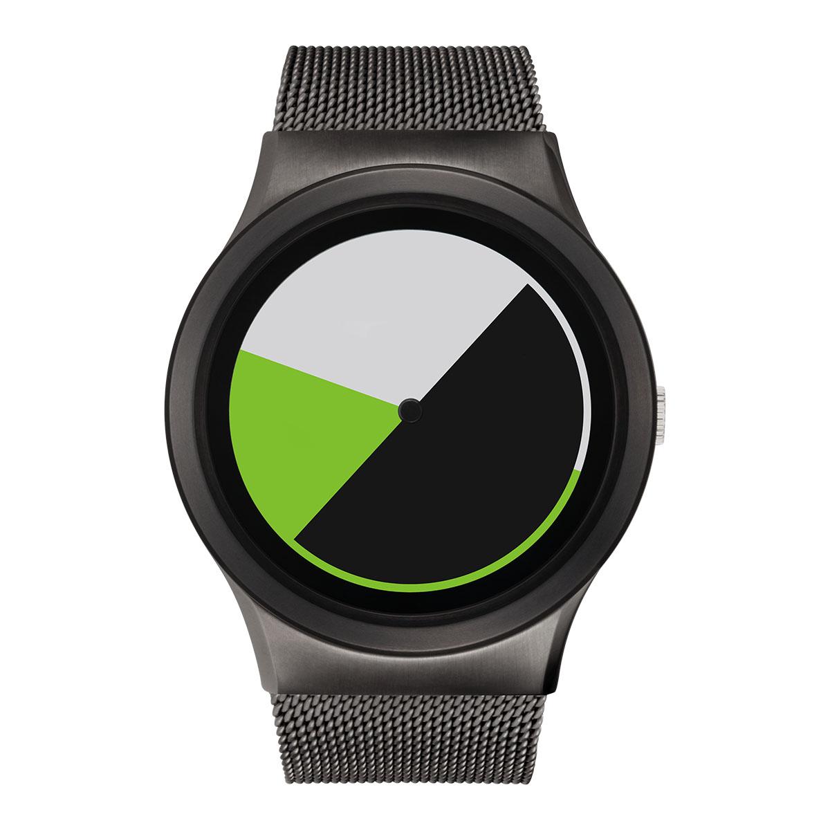 ZEROO COLORED TIME ゼロ 電池式クォーツ 腕時計 [W01004B02SM02] グリーン デザインウォッチ ペア用 メンズ レディース ユニセックス おしゃれ時計 デザイナーズ