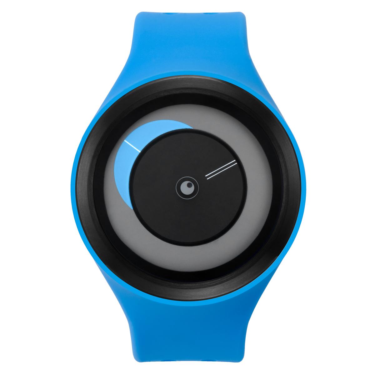 ZEROO CRESCENT MOON ゼロ 電池式クォーツ 腕時計 [W01101B03SR04] ブルー デザインウォッチ ペア用 メンズ レディース ユニセックス おしゃれ時計 デザイナーズ