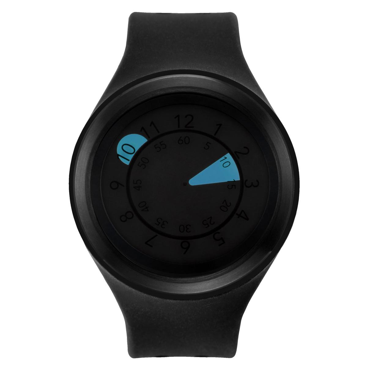 ZEROO AQUA DROP ゼロ 電池式クォーツ 腕時計 [W01202B03SR02] ブラック デザインウォッチ ペア用 メンズ レディース ユニセックス おしゃれ時計 デザイナーズ