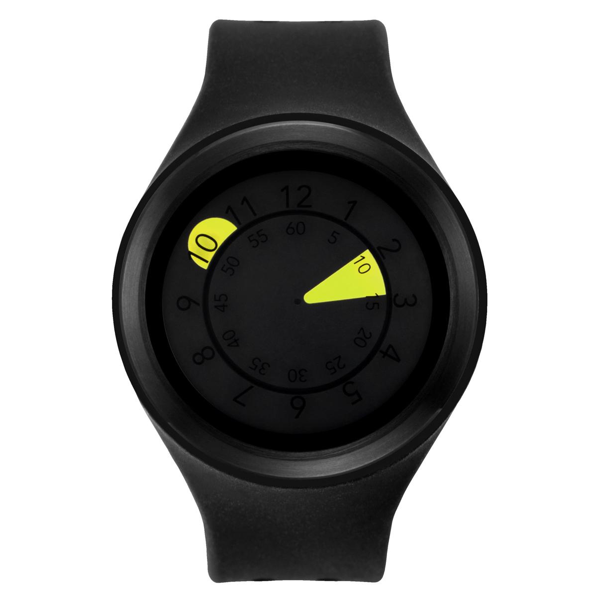 ZEROO AQUA DROP ゼロ 電池式クォーツ 腕時計 [W01203B03SR02] ブラック デザインウォッチ ペア用 メンズ レディース ユニセックス おしゃれ時計 デザイナーズ
