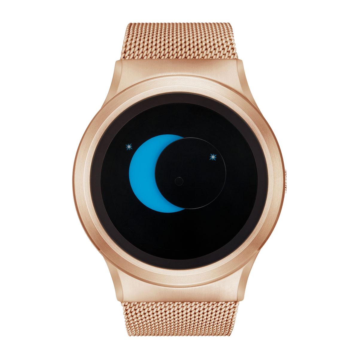 ZEROO SUPER MOON ゼロ 電池式クォーツ 腕時計 [W02006B05SM05] ブルー デザインウォッチ ペア用 メンズ レディース ユニセックス おしゃれ時計 デザイナーズ