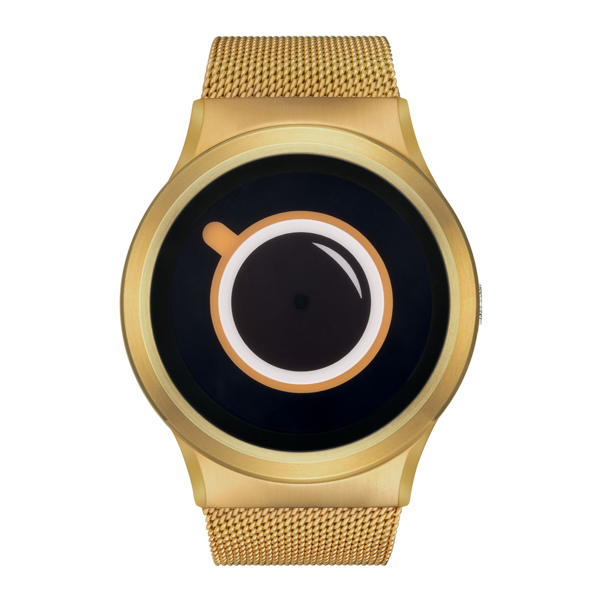 ZEROO COFFEE TIME ゼロ 電池式クォーツ 腕時計 [W03009B04SM04] ベージュ デザインウォッチ ペア用 メンズ レディース ユニセックス おしゃれ時計 デザイナーズ