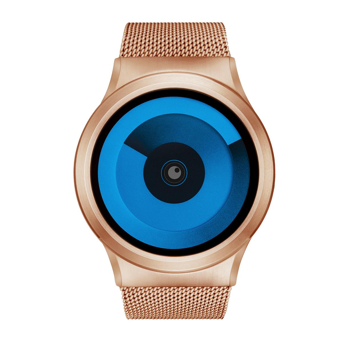 ZEROO SPIRAL GALAXY ゼロ 電池式クォーツ 腕時計 [W06015B05SM05] ブルー デザインウォッチ ペア用 メンズ レディース ユニセックス おしゃれ時計 デザイナーズ