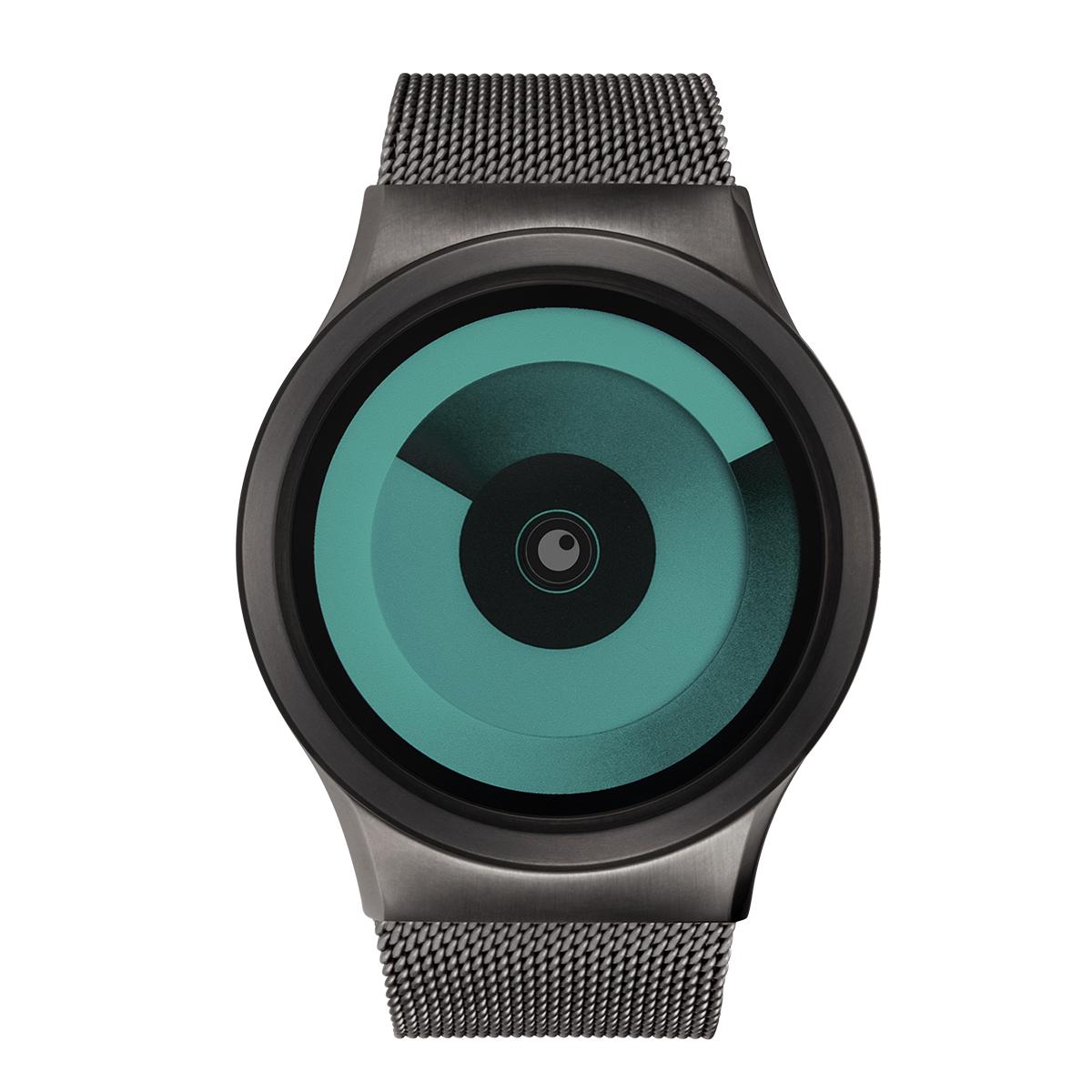 ZEROO SPIRAL GALAXY ゼロ 電池式クォーツ 腕時計 [W06018B02SM02] グリーン デザインウォッチ ペア用 メンズ レディース ユニセックス おしゃれ時計 デザイナーズ
