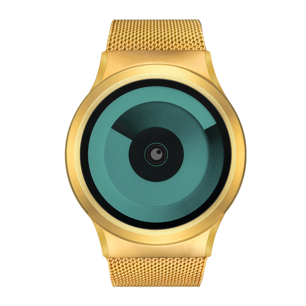 ZEROO SPIRAL GALAXY ゼロ 電池式クォーツ 腕時計 [W06018B04SM04] グリーン デザインウォッチ ペア用 メンズ レディース ユニセックス おしゃれ時計 デザイナーズ