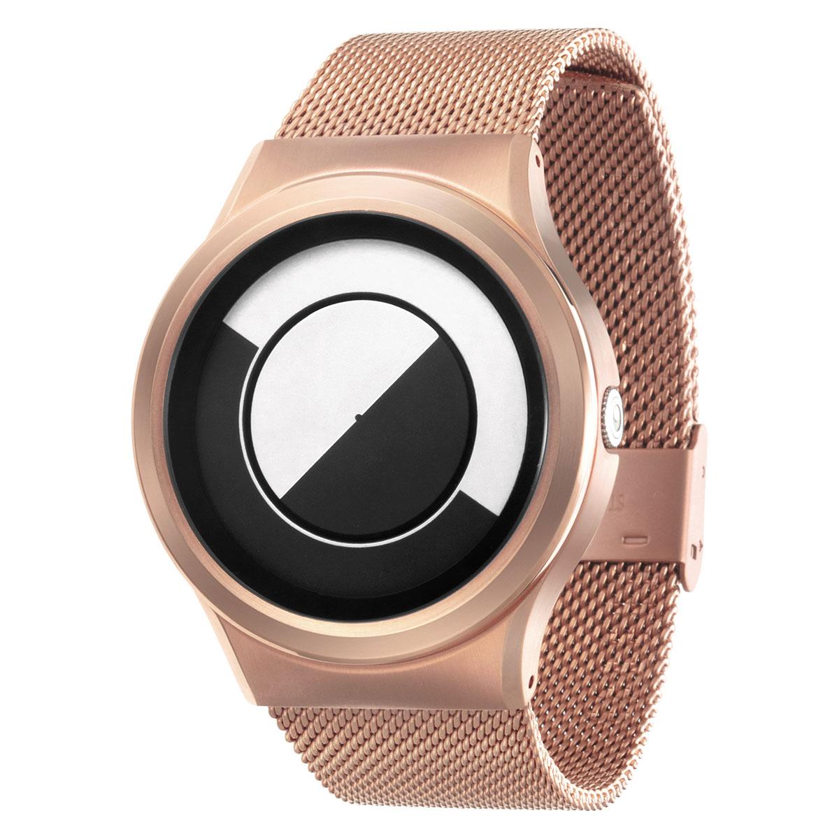 ZEROO QUARTER MOON ゼロ 電池式クォーツ 腕時計 [W08031B05SM05] ホワイト デザインウォッチ ペア用 メンズ レディース ユニセックス おしゃれ時計 デザイナーズ