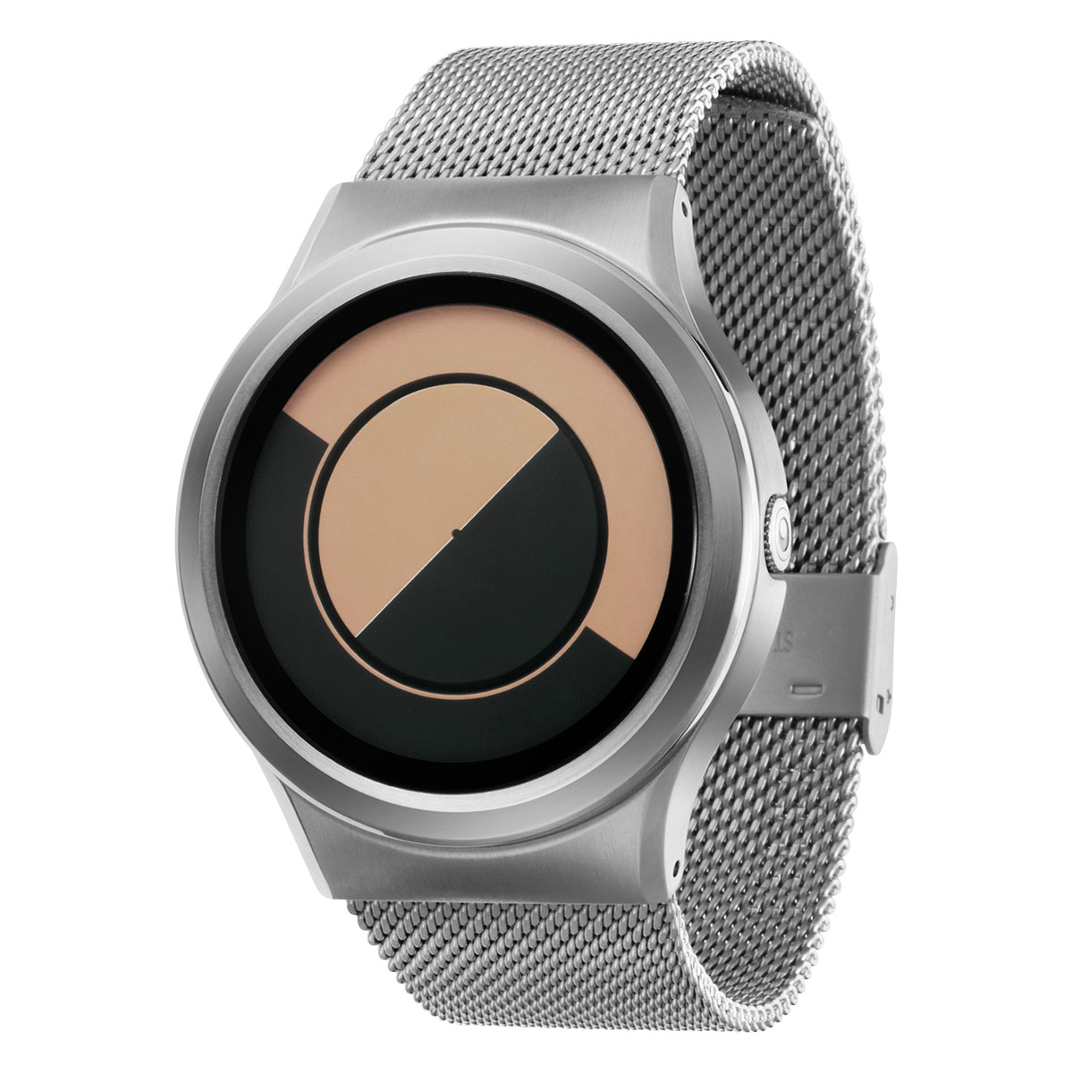 ZEROO QUARTER MOON ゼロ 電池式クォーツ 腕時計 [W08033B01SM01] ベージュ デザインウォッチ ペア用 メンズ レディース ユニセックス おしゃれ時計 デザイナーズ