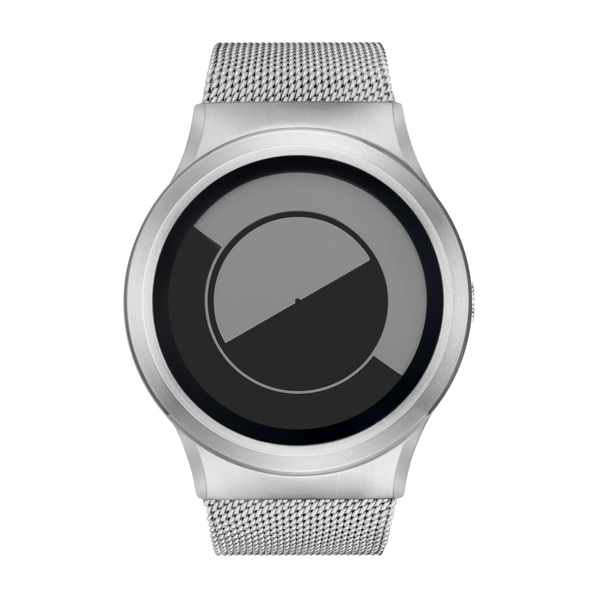 ZEROO QUARTER MOON ゼロ 電池式クォーツ 腕時計 [W08035B01SM01] グレイ