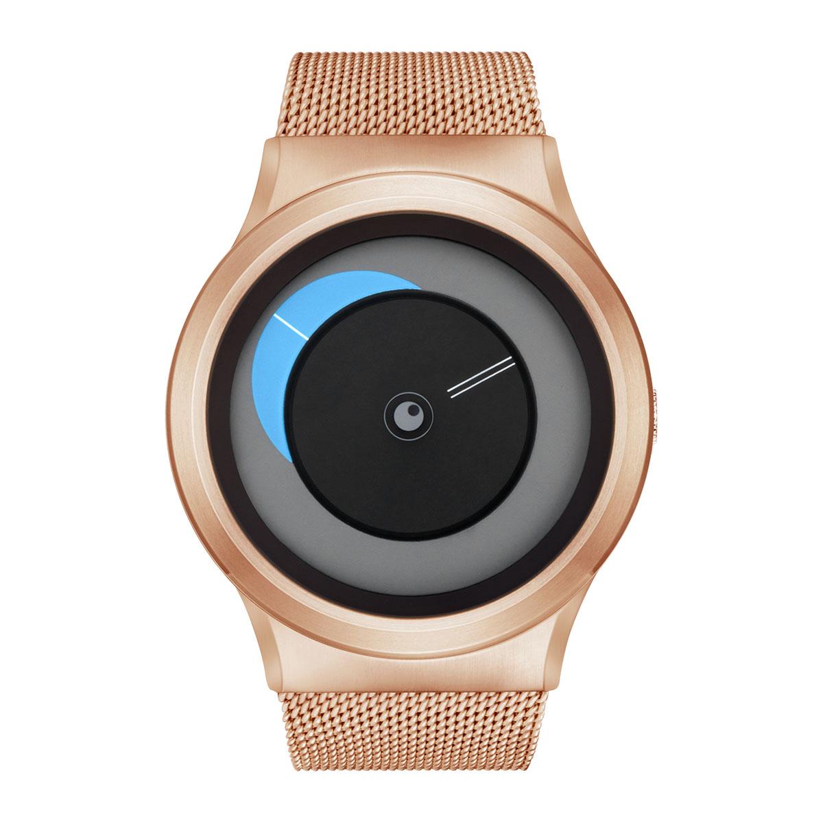 ZEROO CRESCENT MOON ゼロ 電池式クォーツ 腕時計 [W09036B05SM05] ブルー