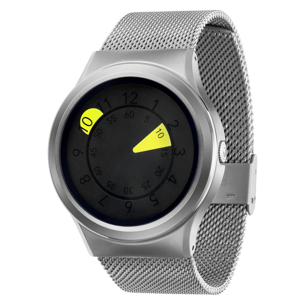 ZEROO AQUA DROP ゼロ 電池式クォーツ 腕時計 [W10040B01SM01] イエロー デザインウォッチ ペア用 メンズ レディース ユニセックス おしゃれ時計 デザイナーズ
