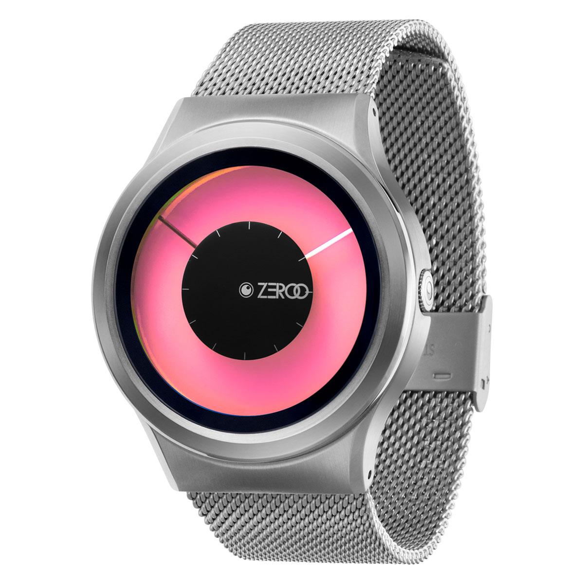 ファッションウォッチ デザインウォッチ 5ATM メーカー保障12ヶ月 ベルト調整用工具 LOGO入りクロス 取扱説明書 ZIIIROとは関係ありません セール価格 ZEROOTIME ゼロタイム ZEROO MAGIA 特売 おしゃれ時計 ペア用 電池式クォーツ W11025B01SM01 ピンク デザイナーズ AURORA メンズ 腕時計 ユニセックス ゼロ レディース