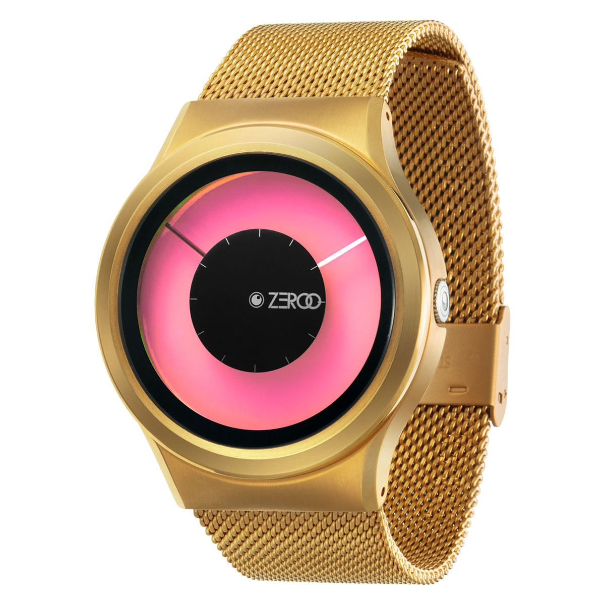ファッションウォッチ デザインウォッチ 5ATM メーカー保障12ヶ月 ベルト調整用工具 LOGO入りクロス 開店記念セール [並行輸入品] 取扱説明書 ZIIIROとは関係ありません ZEROOTIME ゼロタイム ZEROO MAGIA 腕時計 AURORA ユニセックス ペア用 ピンク 電池式クォーツ ゼロ レディース メンズ おしゃれ時計 デザイナーズ W11025B04SM04