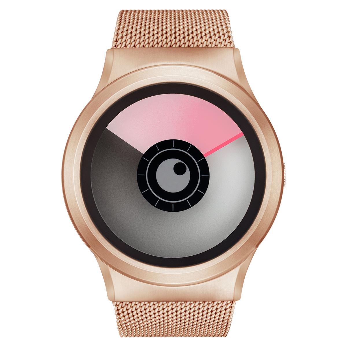 ZEROO AURORA BOREALIS ゼロ 電池式クォーツ 腕時計 [W12020B05SM05] ピンク デザインウォッチ ペア用 メンズ レディース ユニセックス おしゃれ時計 デザイナーズ
