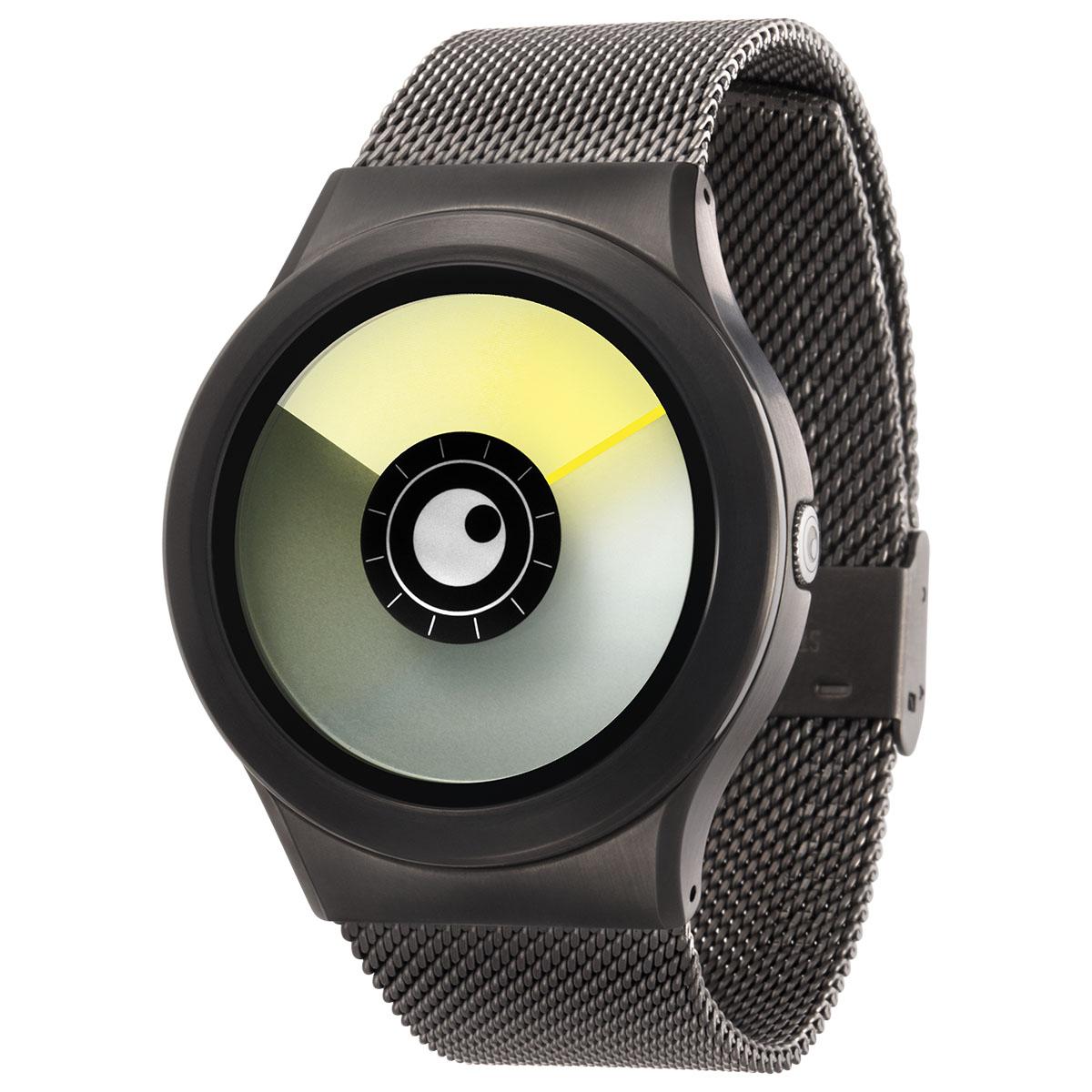 ZEROO AURORA BOREALIS ゼロ 電池式クォーツ 腕時計 [W12021B02SM02] イエロー デザインウォッチ ペア用 メンズ レディース ユニセックス おしゃれ時計 デザイナーズ