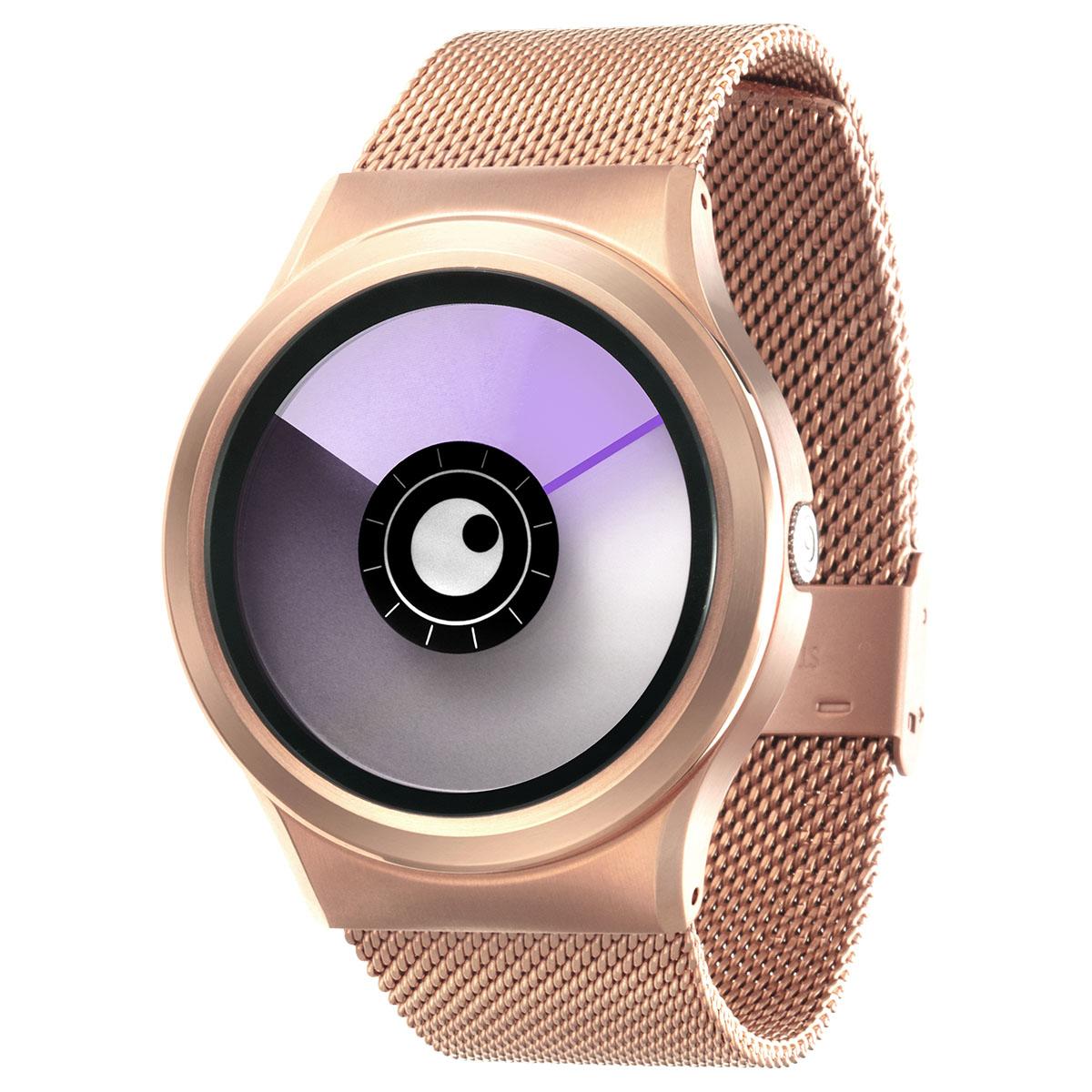ファッションウォッチ 開店祝い デザインウォッチ 5ATM メーカー保障12ヶ月 ベルト調整用工具 国際ブランド LOGO入りクロス 取扱説明書 ZIIIROとは関係ありません ZEROOTIME ゼロタイム ZEROO AURORA BOREALIS ゼロ ユニセックス メンズ W12023B05SM05 デザイナーズ ペア用 腕時計 おしゃれ時計 パープル 電池式クォーツ レディース