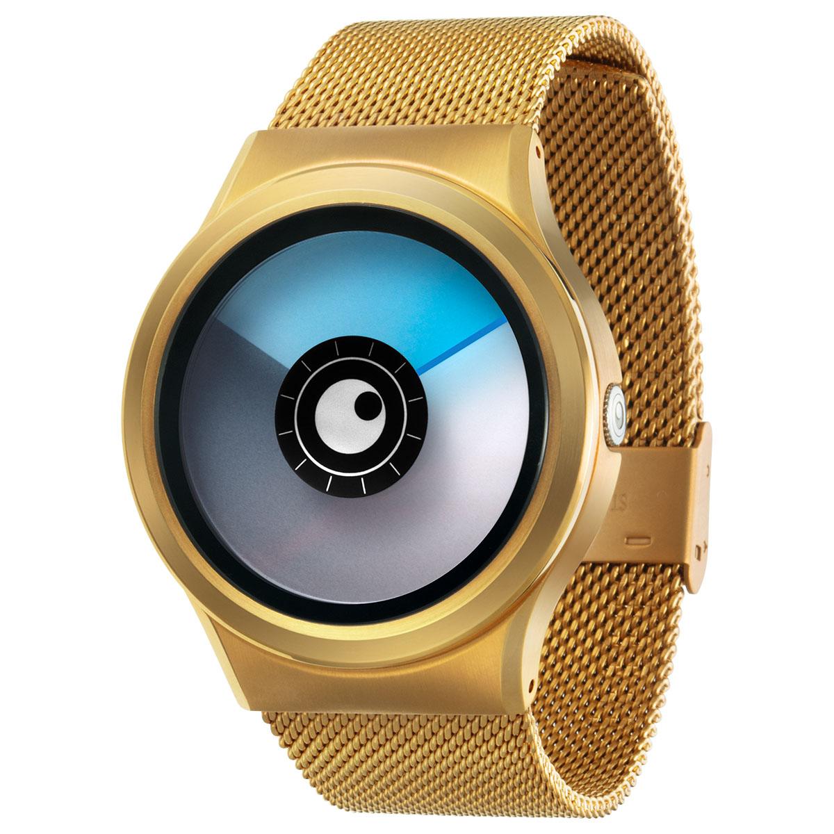 ZEROO AURORA BOREALIS ゼロ 電池式クォーツ 腕時計 [W12024B04SM04] ブルー デザインウォッチ ペア用 メンズ レディース ユニセックス おしゃれ時計 デザイナーズ