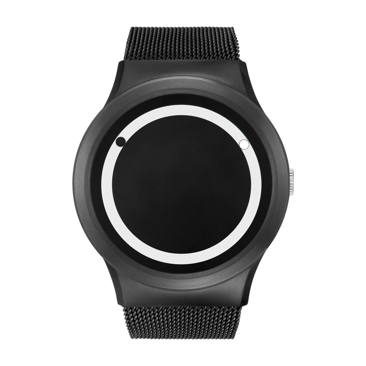 ZEROO PLANET ECLIPSE ゼロ 電池式クォーツ 腕時計 [W13030B03SM03] ホワイト デザインウォッチ ペア用 メンズ レディース ユニセックス おしゃれ時計 デザイナーズ
