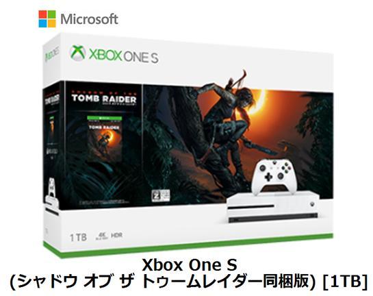 【8/1(土)ポイント最大15倍&最大2000円クーポン】microsoft Xbox One S (シャドウ オブ ザ トゥームレイダー同梱版) [1TB]マイクロソフト ゲーム機 単体 新品