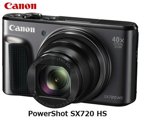 【5/1開始!先着限定1,200円クーポン】CANON PowerShot SX720 HS [ブラック]キャノン コンパクトデジタルカメラ 単体 新品