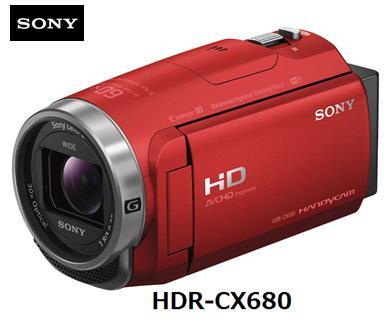 SONY HDR-CX680 (R) [レッド]ソニー ハンディカム フルハイビジョン ビデオカメラ 単体 新品