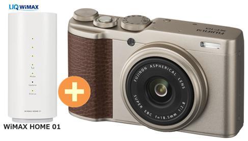 UQ WiMAX WIMAX2+ 正規代理店 3年契約UQ Flat + ツープラス富士フイルム FUJIFILM XF10 FUJIFILM [シャンパンゴールド] + WIMAX2+ WiMAX HOME 01 FUJIFILM コンパクトデジタルカメラ セット ワイマックス 新品【回線セット販売】B, オオズシ:8e32fca9 --- sunward.msk.ru