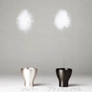 Resolution made wind chimes TANPOPO silver black nickel wind-bell