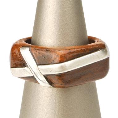 木製 ギフト 【工芸品・メーカー直送便】Wood ring 木製 指輪 0001【リング 指輪 木製 日本製 マホガニー シルバー アクセサリー プレゼント 雑貨 LIFE SWEET D】ギフト ※名入れサービスは終了しました。