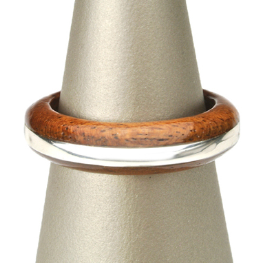 木製 ギフト 【工芸品・メーカー直送便】Wood ring 木製指輪 0012 【リング 指輪 木製 マホガニー ウッド シルバー 日本製 アクセサリー LIFE SWEET D】ギフト プレゼント ※名入れサービスは終了しました。