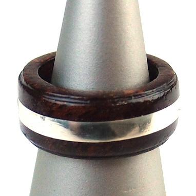 木製 ギフト 【工芸品・メーカー直送便】Wood ring 木製 指輪 0103【リング 指輪 木製 マホガニー シルバー 日本製 ハンドメイド アクセサリー LIFE SWEET D】ギフト、プレゼントに ※名入れサービスは終了しました。