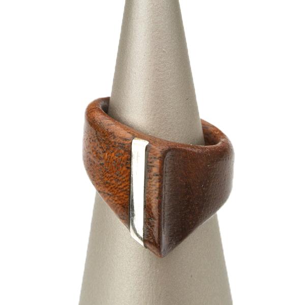木製 ギフト 【工芸品・メーカー直送便】Wood ring 木製指輪 0016【リング 指輪 木製 日本製 ウッド シルバー アクセサリー プレゼント LIFE SWEET D】ギフト、プレゼントに ※名入れサービスは終了しました。