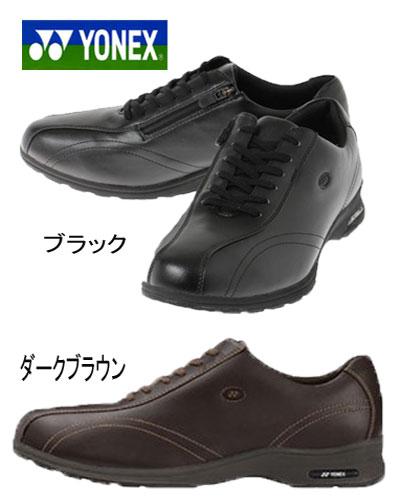 ヨネックス ウォーキングシューズ メンズ パワークッション YONEX MC30W ブラック ダークブラウン 紳士 4.5E 靴