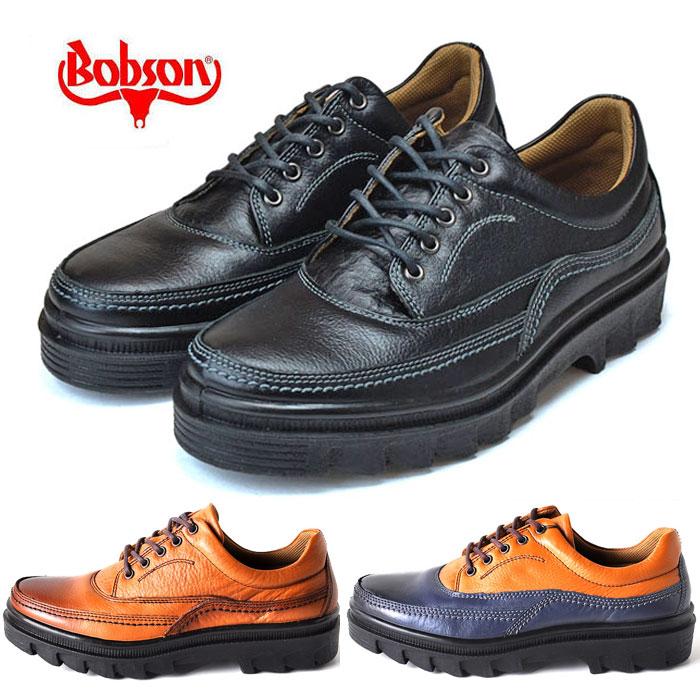 ボブソン BOBSON 靴 本革 メンズ 疲れない カジュアルシューズ ウォーキングシューズ 軽量 3E 4355 ブラック ブラウン ネイビー 旅行 父の日 プレゼント ギフト
