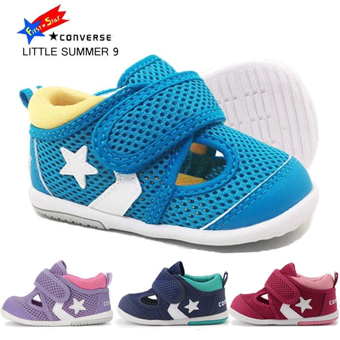 送料無料 キッズ 子供靴 ブランド コンバース リトルサマー9 CONVERSE LITTLE SUMMER 9 ファーストシューズ サマーシューズ ベビーサンダル 軽量 子供靴 11.0-14.0cm