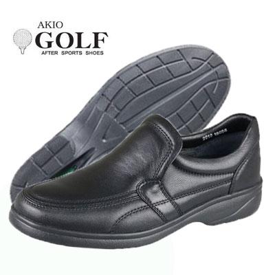 コンフォートシューズ メンズ ゴルフ AKIO GOLF 2212 ブラック 黒 ブラウン 茶 3E カジュアルシューズ 本革日本製 靴 父の日 プレゼント
