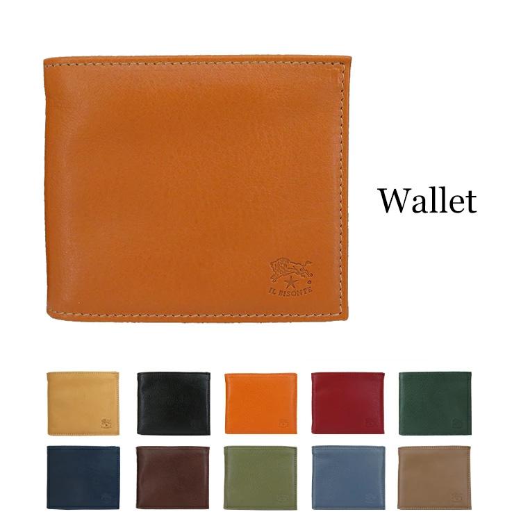 IL BISONTE イルビゾンテ 二つ折り財布 小銭入れ無し C0437 メンズ レディース 財布 サイフ カードケース プレゼント レザー