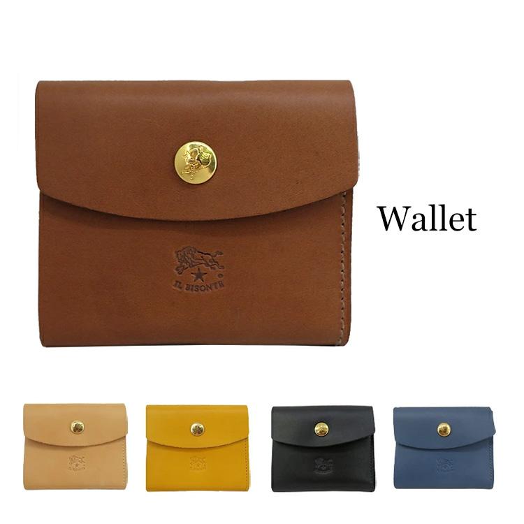 IL BISONTE イルビゾンテ 三つ折り財布 小銭入れ無し C1158 メンズ レディース 財布 サイフ カードケース プレゼント レザー