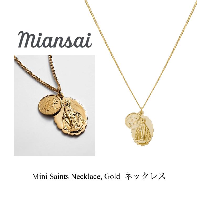 ミアンサイ ネックレス Miansai Mini Saints Necklace Gold メンズ レディース アクセサリー ペンダント ジュエリー プレゼント マイアンサイ