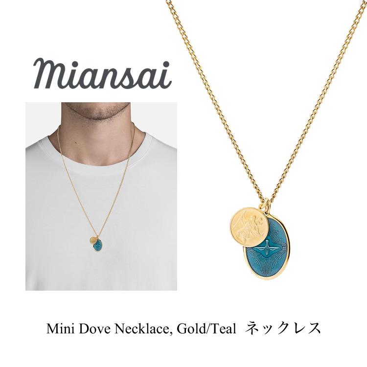 ミアンサイ ネックレス Mini Dove Necklace Gold/Teal メンズ レディース アクセサリー ペンダント ジュエリー プレゼント マイアンサイ