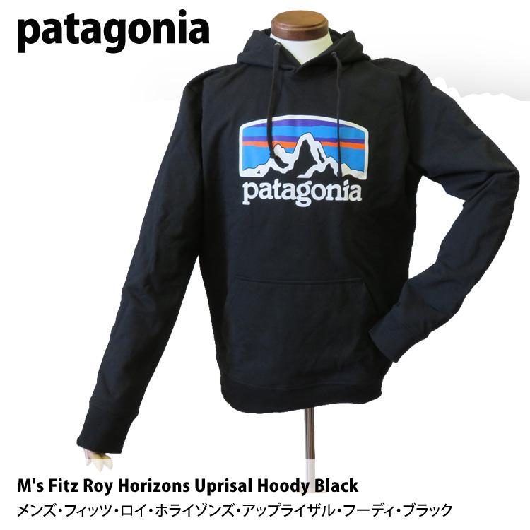 パタゴニア パーカー patagonia メンズ・フィッツ・ロイ・ホライゾンズ・アップライザル・フーディ・ブラック 39583 M's Fitz Roy Horizons Uprisal Hoody Black S M L XL プルオーバーパーカー