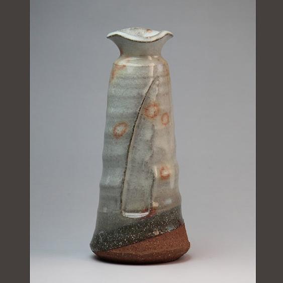 萩焼 御本手花生葉月作(化粧箱) Hagi yaki Gohonde Vase made in Japan. Japanese pottery. Free shipping.