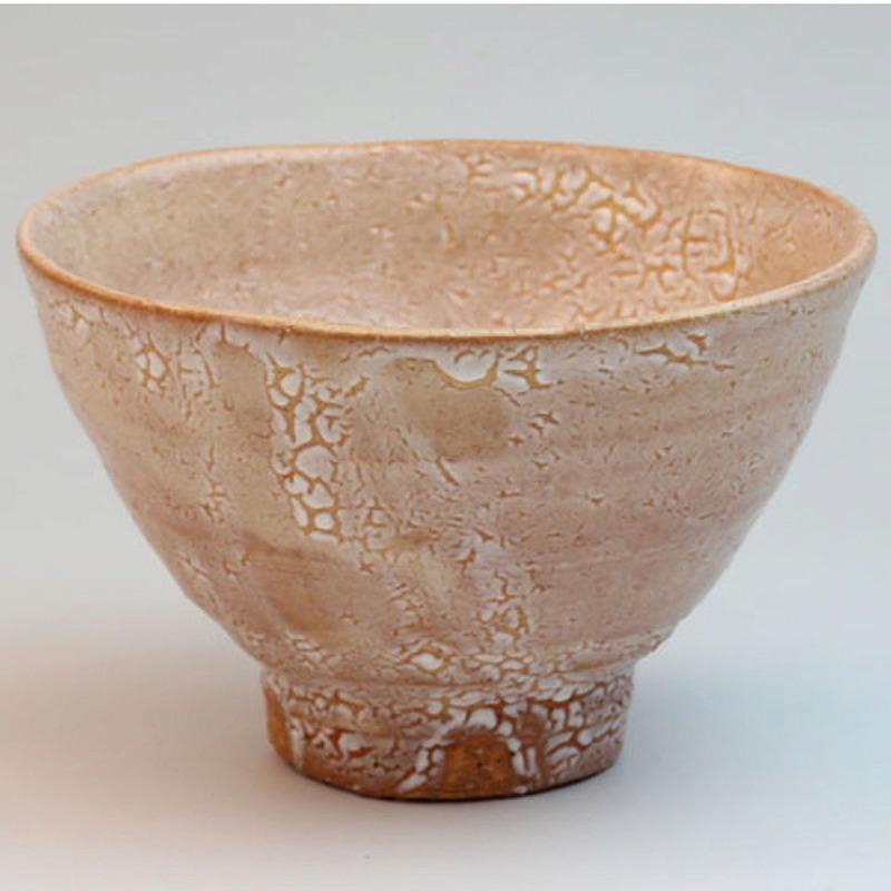 萩焼 萩梅花皮抹茶碗 透作 桐箱 Japanese ceramic Hagi-ware. Kairagi matcha chawan teabowl made by toru with wooden box.