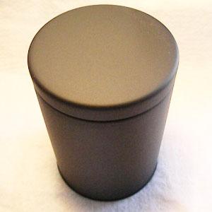 大型の防湿缶です つや消しマット感がある紅茶缶がでました 大型紅茶キャニスター 防湿缶 爆買い送料無料 マット黒 150~250g用 開店祝い