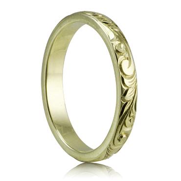 ハワイアンジュエリー リング 14K ゴールド Laule'a ラウレア オーダーメイド レディース 女性 メンズ 男性 ペアリング 指輪 ハワジュ バレル・リング3mm幅1.5mm厚【送料無料】OGR006-3mm