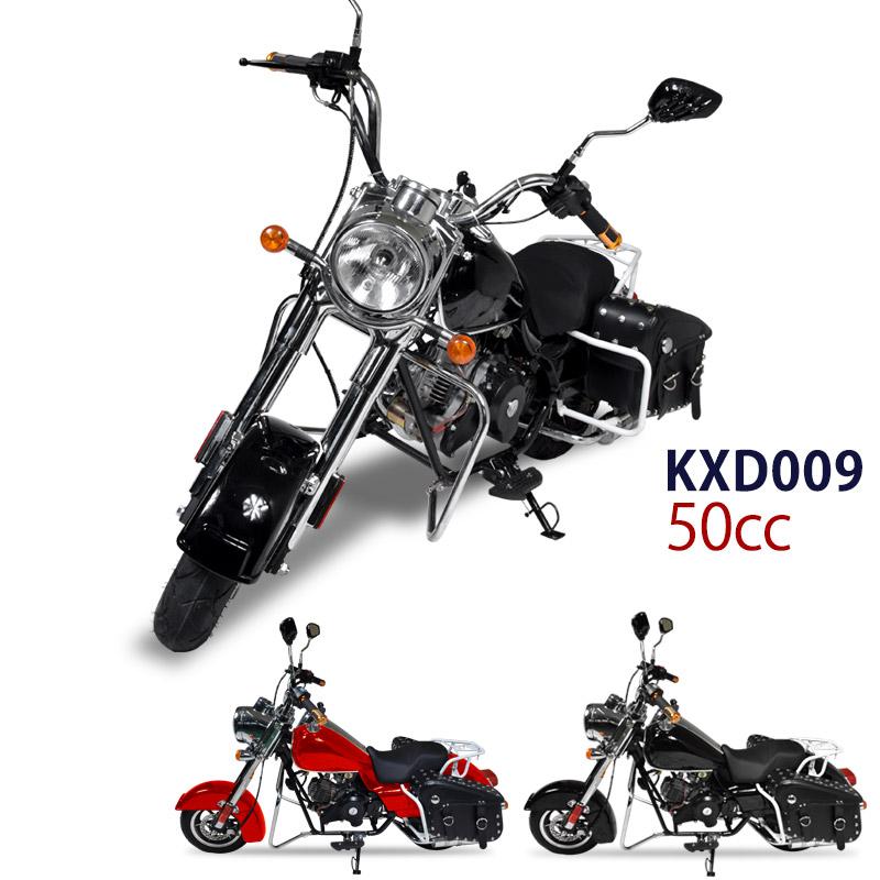 PointUp!【西濃営業所止め】 アメリカンバイク クルーザーバイク 50cc 4サイクル チョッパーバイク クラシックバイク KXD009【 送料無料 】