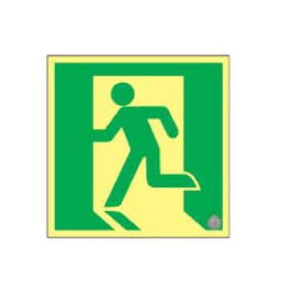 日本緑十字社:高輝度蓄光避難口誘導標識(A級) 型式:ASN860 (377860)