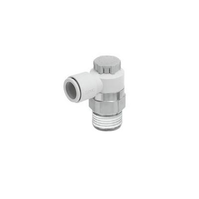 SMC:ワンタッチ管継手付スピードコントローラ ミリサイズ 型式:AS3201F-N03-08SA(1セット:10個入)